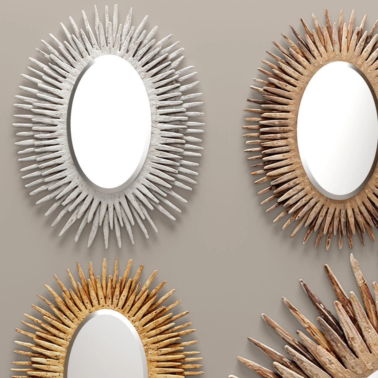 made goods donatella mirror oval gold showroom