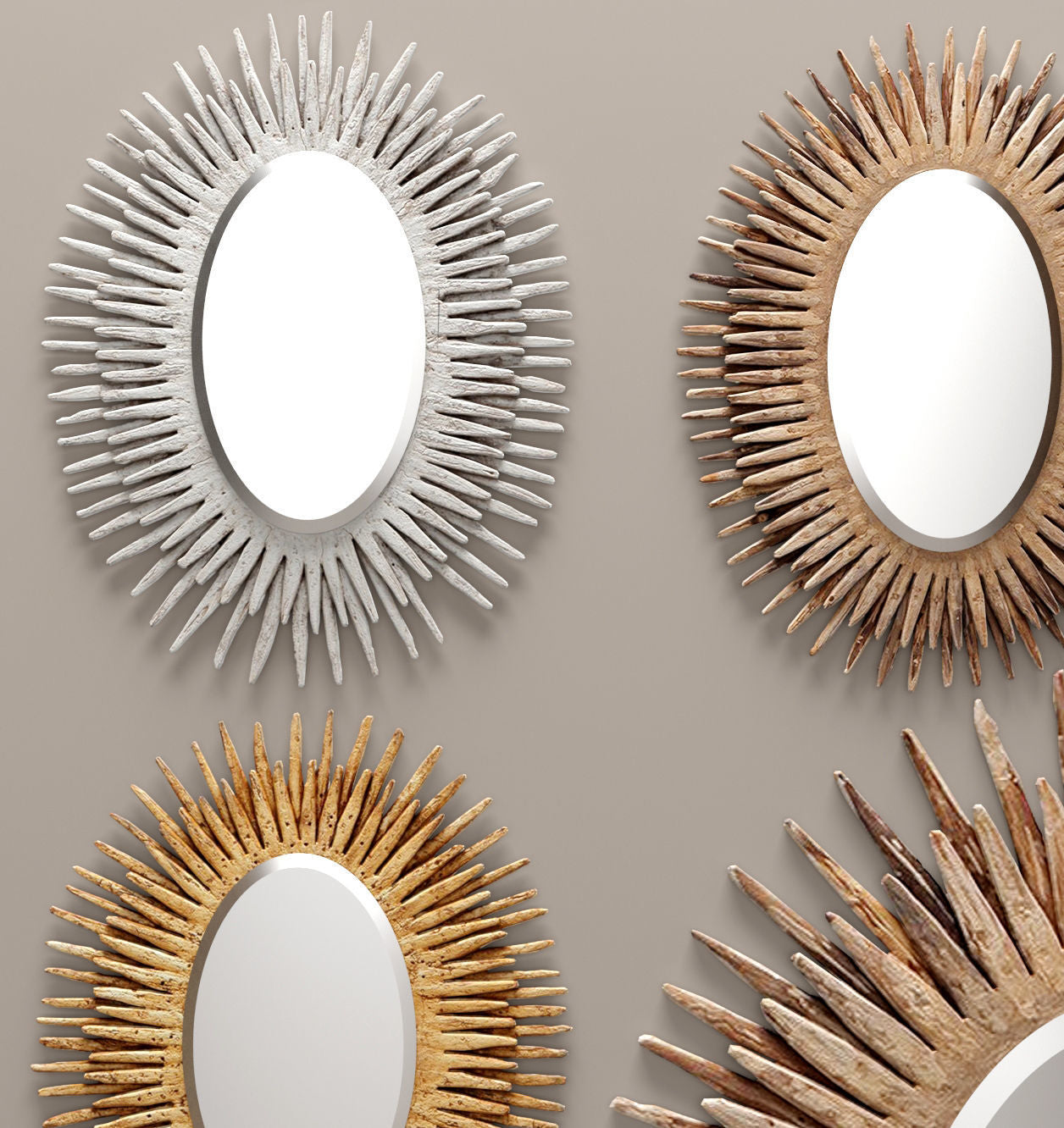 made goods donatella mirror oval showroom