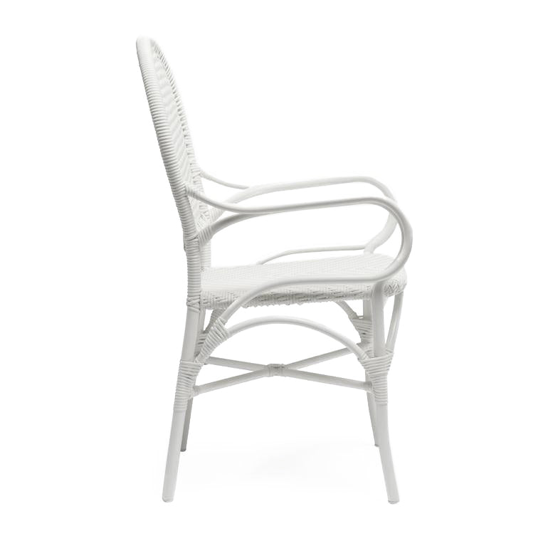 Made Goods Donovan Arm Chair White seating living room chair dining room chair dining chair contemporary chairs chairs seating side view