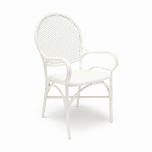 Made Goods Donovan Arm Chair White seating living room chair dining room chair dining chair contemporary chairs chairs seating side