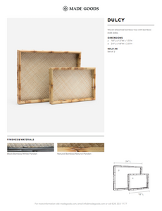 made goods dulcy tray set of two tearsheet
