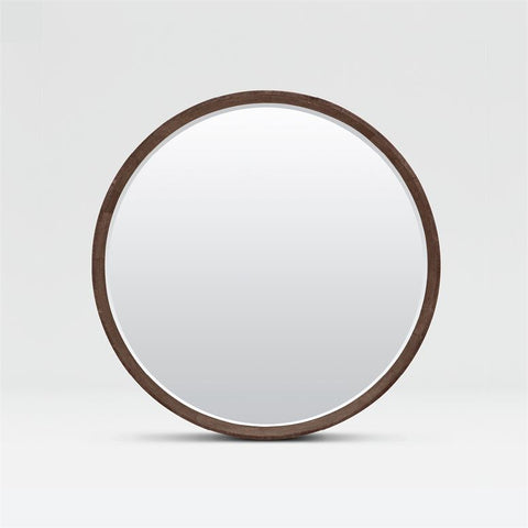 made goods emma mirror dark mushroom faux shagreen