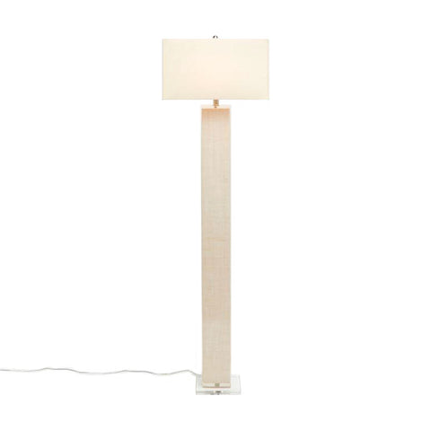 made goods fabre floor lamp off white burlap