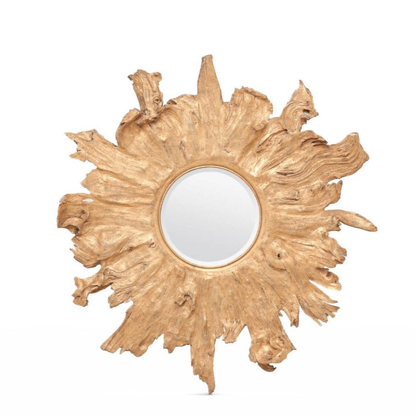 made goods floris wall mirror gold antiqued gold