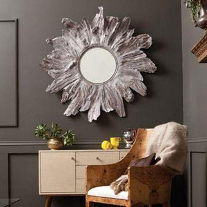 made goods floris mirror whitewashed over buffet