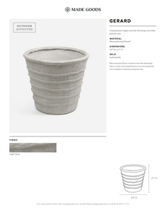 made goods gerard planter tearsheet