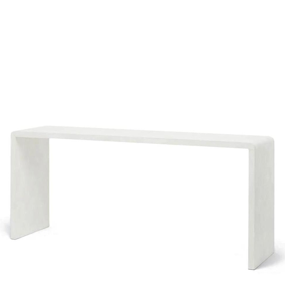 "Made Goods Harlow 72"" Waterfall Console Le Blanc"