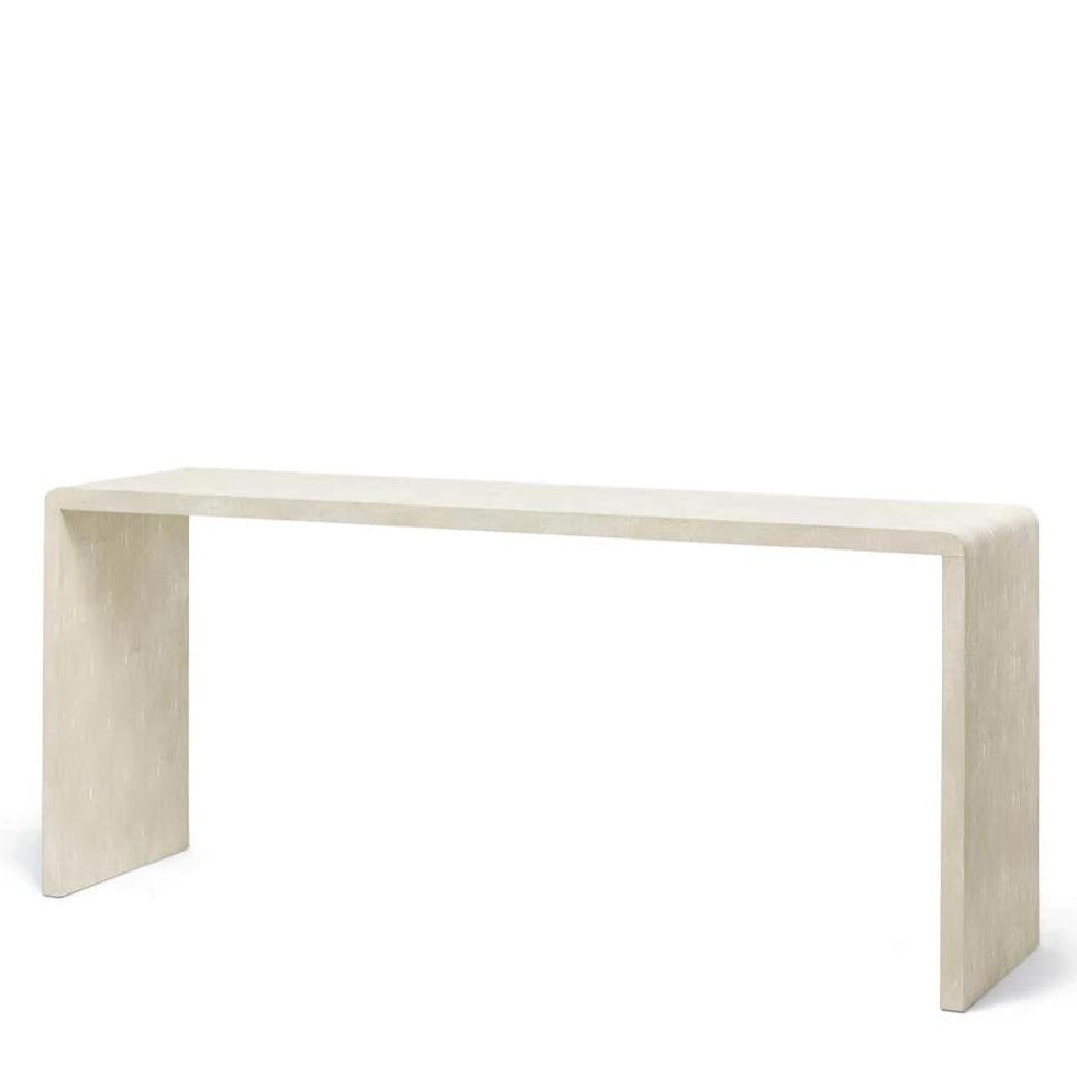 "Made Goods Harlow 72"" Waterfall Console Ivory"