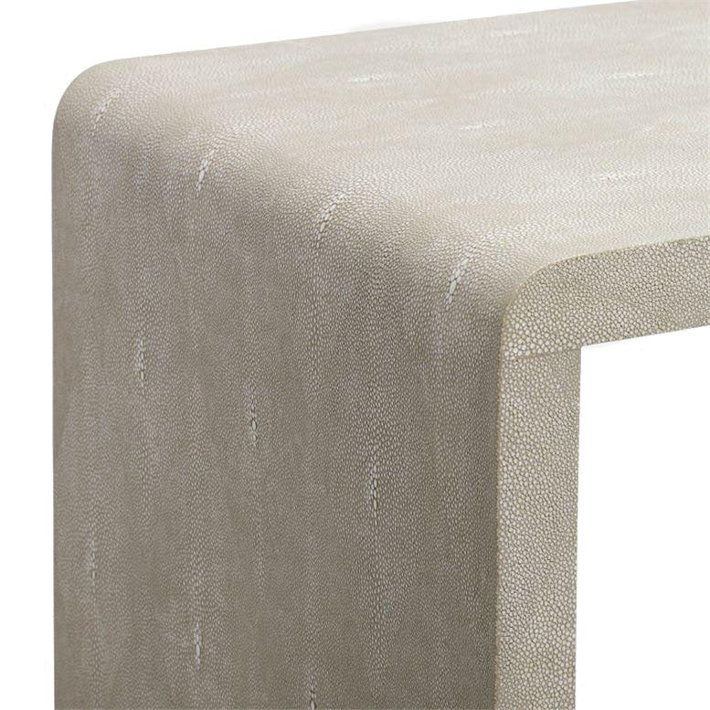 Made Goods Harlow  Narrow Waterfall Console Sand