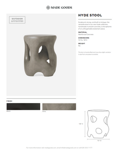 made goods hyde stool gray tearsheet