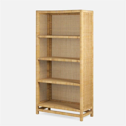 made goods isla bookcase natural peeled rattan