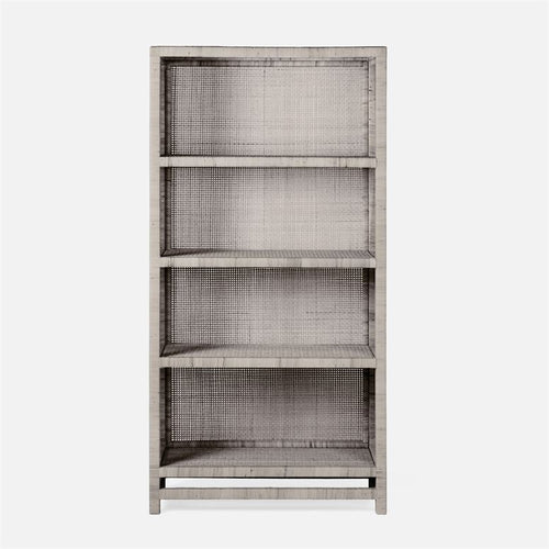 made goods isla bookshelf french gray peeled rattan