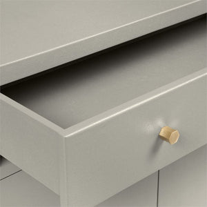 jarin buffet light gray made goods drawer open