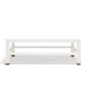 made goods jarin coffee table designer white belgian linen rectangle