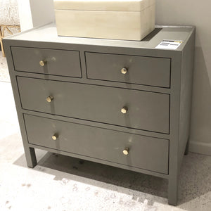 "Jarin 36"" Dresser Light Gray Faux Belgian Linen"