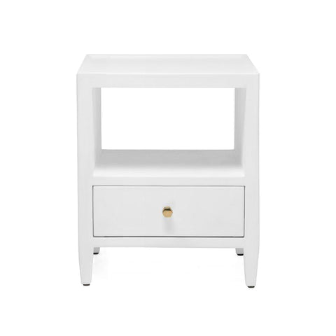 made goods jarin low nightstand single designer white