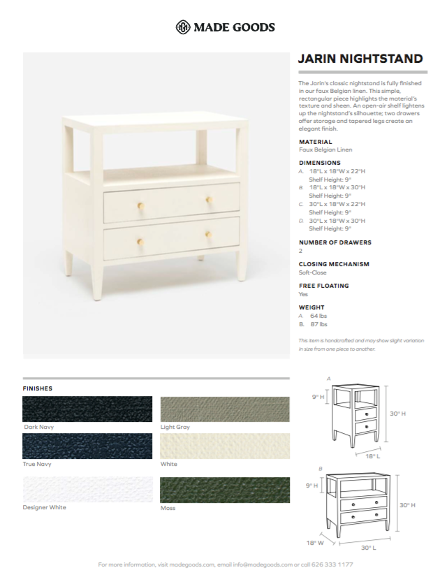 made goods jarinlow double nightstand dark navy tearsheet
