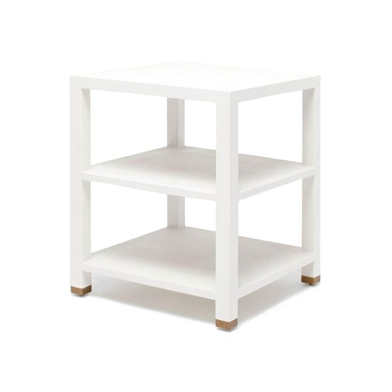 made goods jarin side table designer white faux belgian linen angle