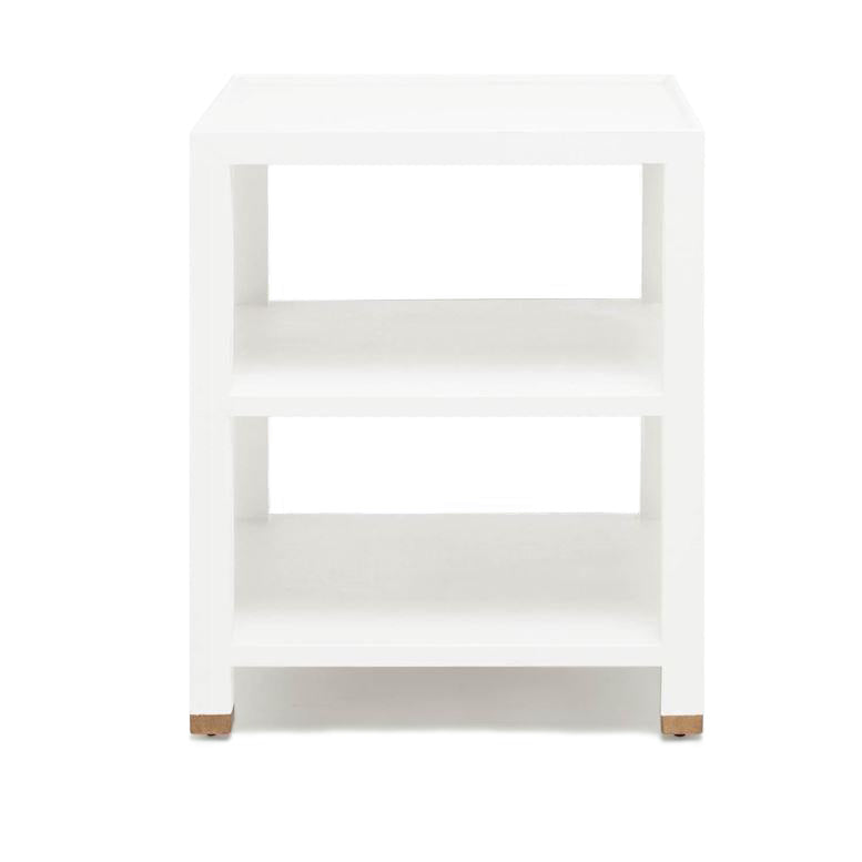 made goods jarin side table designer white faux belgian linen