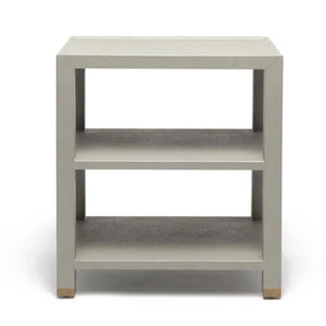 Made Goods Jarin Side Table Grey Faux Belgian Linen