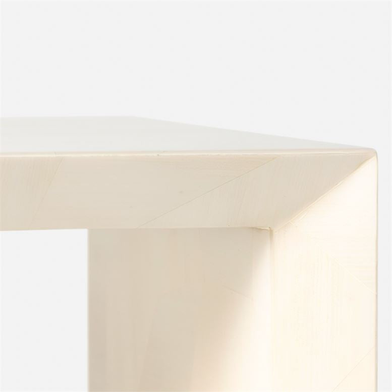 made goods jozlyn console wide ivory faux horn