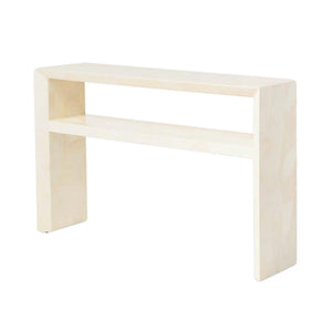 made goods jozlyn narrow console faux ivory