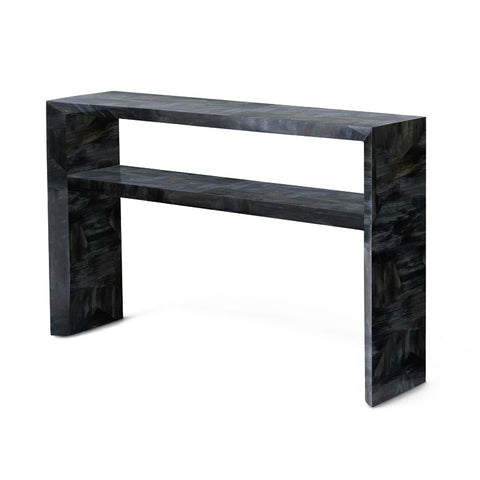 made goods jozlyn narrow console dark faux horn