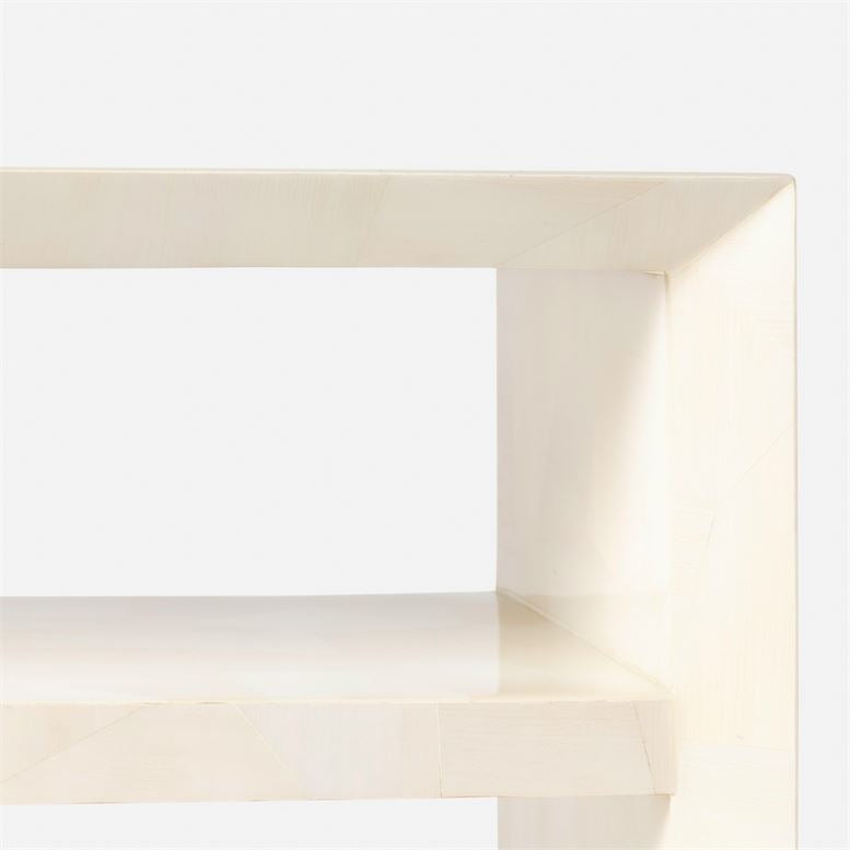 made goods jozlyn narrow console ivory faux horn