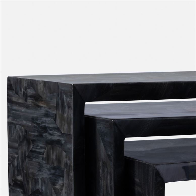 made goods jozlyn nesting table dark faux horn detail