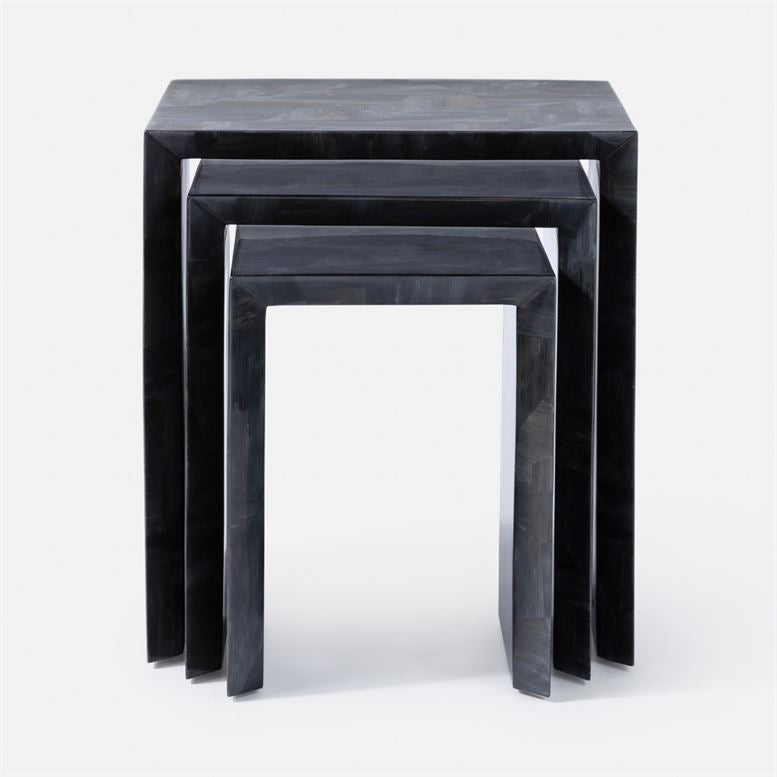 made goods jozlyn nesting table dark faux horn front