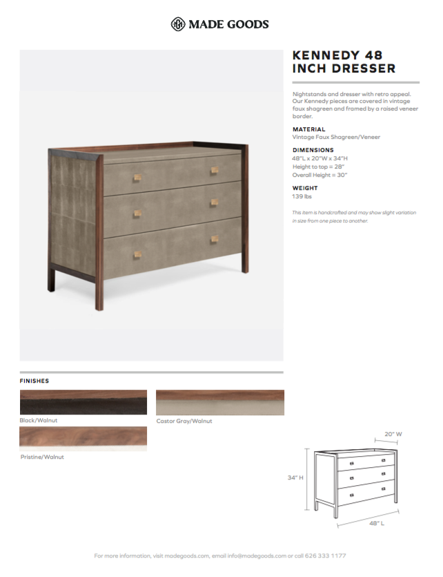 made goods kennedy 48 inch dresser black walnut tearsheet