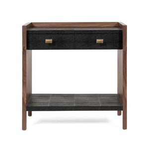 made goods kennedy double nightstand black and walnut front