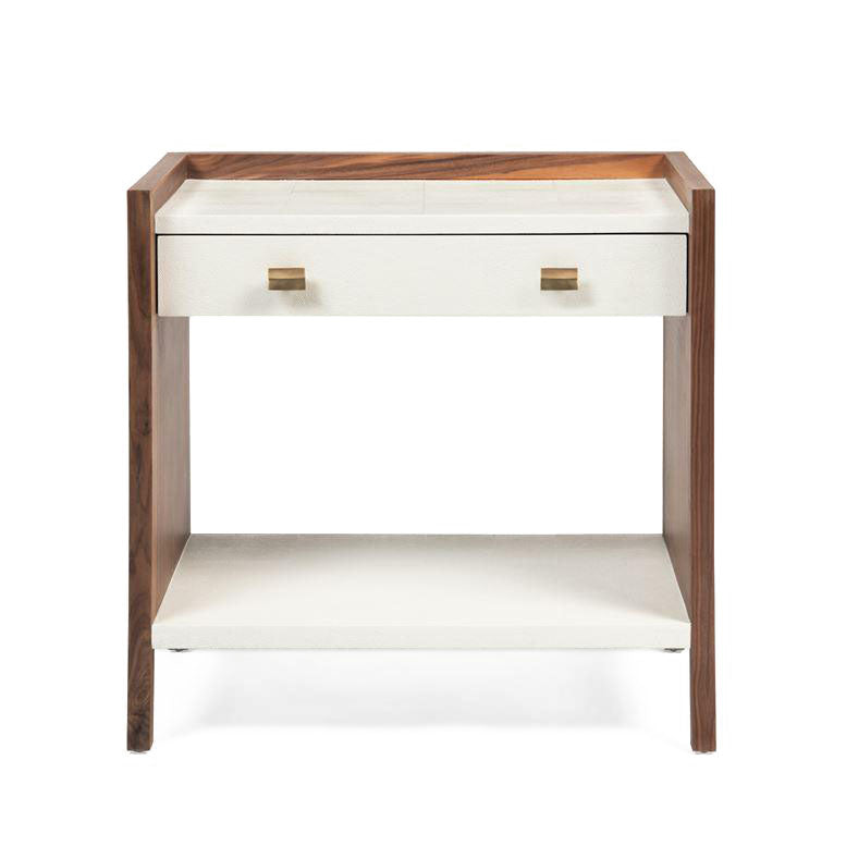 kennedy double nightstand pristine and walnut