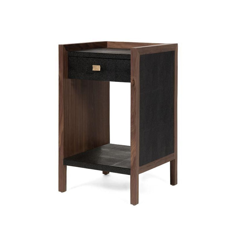 made goods kennedy single nightstand black and walnut angle