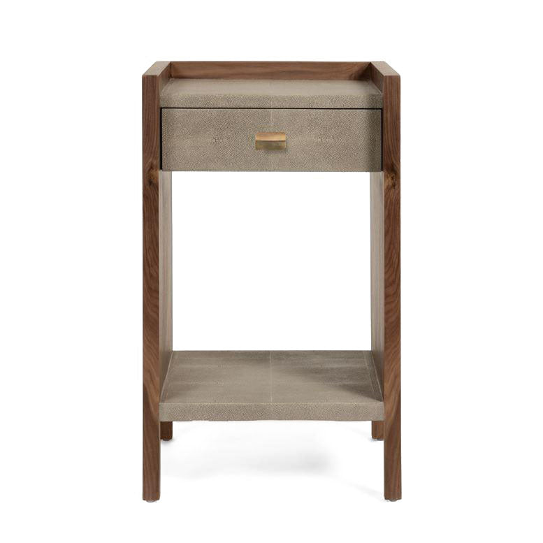 Made goods kennedy single nightstand castor gray