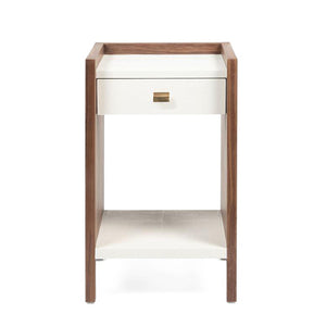 made goods kennedy single nightstand pristine and walnut