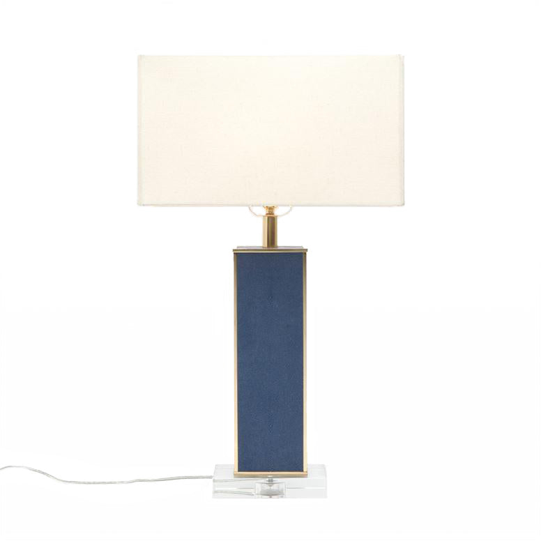 made goods kingston table lamp navy faux shagreen