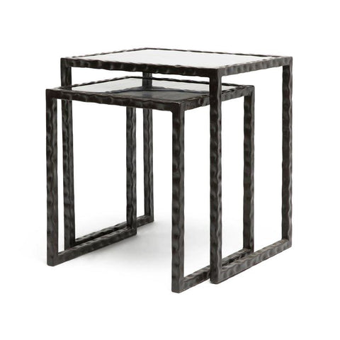 made goods kort nesting side table black iron