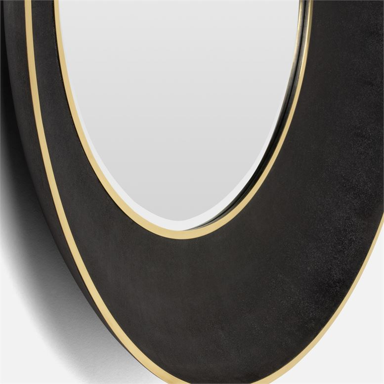 made goods armond mirror black and gold large detail
