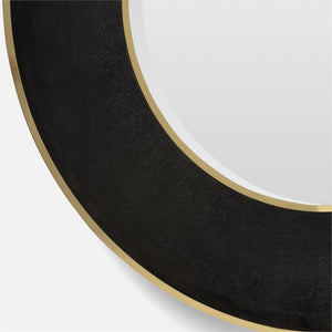 Armond Mirror Large Black and Brass