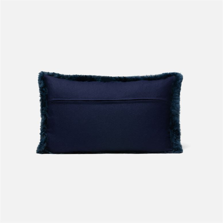 made goods lily lumbar pillow dark navy back