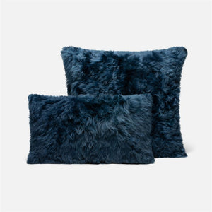 made goods lily lumbar pillow dark navy with sqaure
