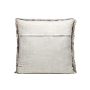 made goods lily pillow gray alpaca square back