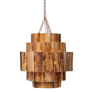 made goods marjorie chandelier dark natural banana bark