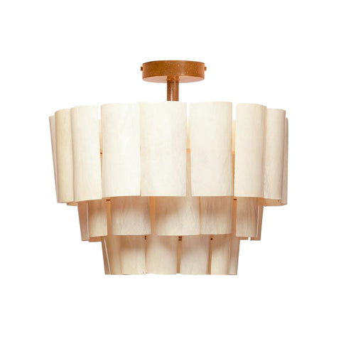 made goods marjorie semi flush mount banana bark natural