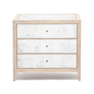 Made Goods Mia Double Nightstand White Cerused Oak