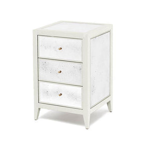 Made Goods Mia Nightstand Pristine Vintage Faux Shagreen