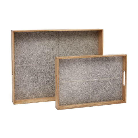 Pace Tray Set Grey Hair on Hide up