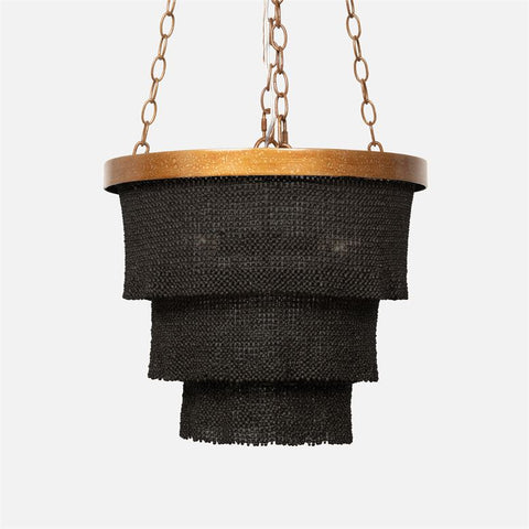 made goods patricia chandelier small gold and black