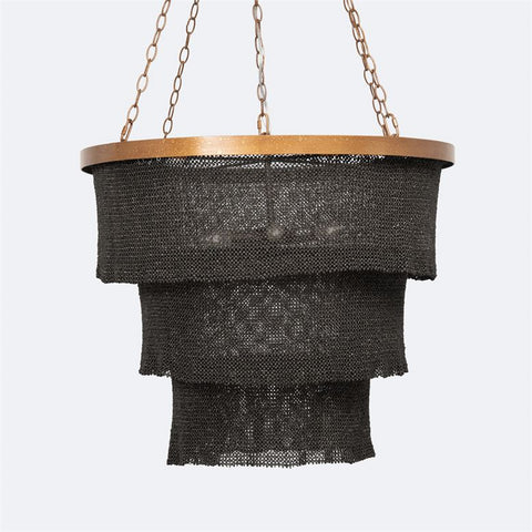 made goods patricia chandelier gold and black